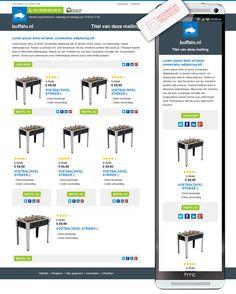 E-mail design voor de webshop van Joba (Buffalo.nl). Lees meer over de mogelijkheden voor jouw organisatie op www.blinker.nl/design.