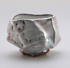 Kaneta Masanao Chawan, Hagi glaze with pink colorations and glaze crawling