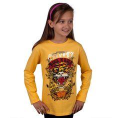 Ed Hardy - Rock N Roll Tiger Girls Youth Long Sleeve   OldGlory.com