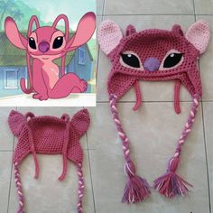 Angel from Lilo and Stitch crochet beanie