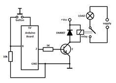 arduino control relay schematic