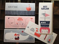Suzy Ultman Designs printed by Igloo Letterpress on French Paper. Love it.