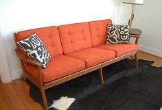 Scandinavian Danish Modern Style Vintage Sofa. $1,100.00, via Etsy.