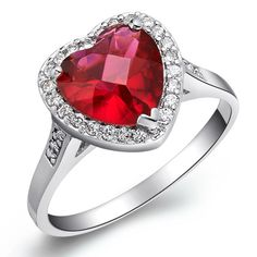 $6.30, RED HEART RING, perfect for engagement.