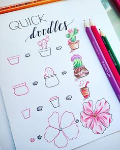 60 How to Doodle Tutorials for Your Bullet Journal - Doodle ideen - Bullet Journal Notebook, Bullet Journal 2019, Bullet Journal Ideas Pages, Bullet Journal Inspiration, Nail Art Fleur, Cute Easy Drawings, Doodles, Doodle Art Journals, Journal Aesthetic