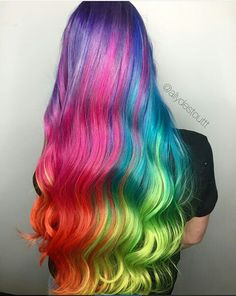 Girl with multi color hair