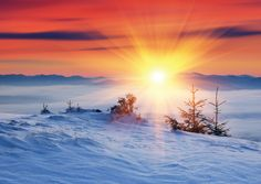 Preview image for product titled: Snowy Sunrise