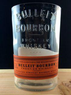 Bulliet Whiskey Bottle cut into Vase on Etsy, $18.00