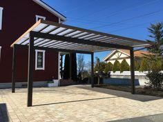 北欧風の建物にぴったりの駐車場が完成しました! — 岡谷市の庭づくり・外構・ガーデニングの専門店