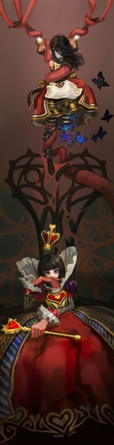 more artwork  for the Queen of hearts Alice in wonderland