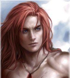 Commission for ____________________________ Artwork © By me [LAS-T] Vanimore © By Spicedwinefanfic Vanimore Thranduil, Legolas, Long Red Hair, Long Hair Cuts, Long Hair Styles, Fantasy Male, Fantasy Girl, Red Hair Elf, Tolkien