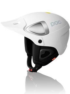 POC helmet, plastic, white, black, aluminium