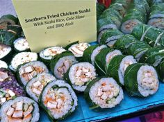 Southern Fried Chicken Sushi Rolls!