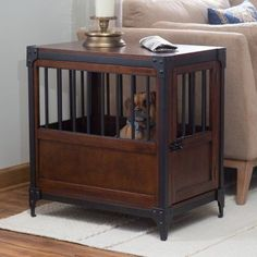Boomer & George Trenton Pet Crate End Table - Dog Crates at Hayneedle #PetCrates
