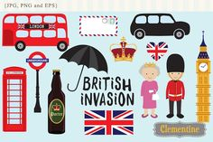 British Invasion clip art by Lovely Clementine on @creativemarket