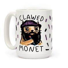 Show off your love and knowledge of art history with this hilarious, cat lover's, classical painter's, Claude Monet inspired coffee mug This is the perfect way to show off what you know and get some serious laughs from your art school friends