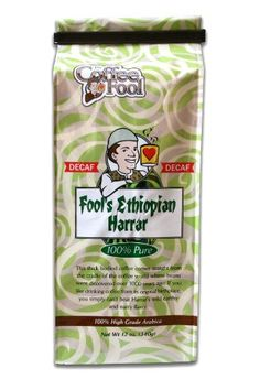 The Coffee Fool Fools Decaf Ethiopian Harrar Whole Bean Coffee 12 Ounce ** Click affiliate link Amazon.com on image for more details.