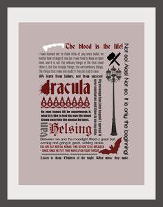 Dracula 8.5x11 Print. $20.00, via Etsy.