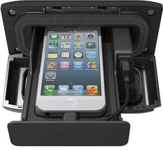 Smart storage for smartphones If you use a smartphone or another portable device to play music on your boat, you know that finding a safe place to stash it can be a hassle. And, on the outside