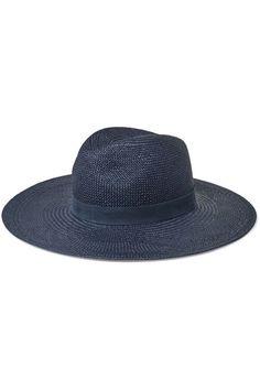 Janessa Leone - Chloe leather-trimmed straw Panama hat. Sombreros De Verano ChloeCueroSombrero Panamá 65a364c4b61