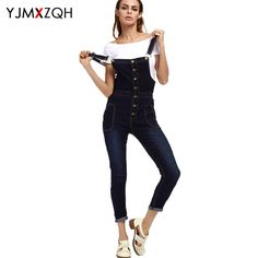 (28.90$)  Buy here - http://aijj5.worlditems.win/all/product.php?id=32801824763 - Slim Skinny Plus 5XL Size Button Overalls Jeans High Waist Women Black Fashion Mom Vintage Denim Pants Boyfriend Woman Summer
