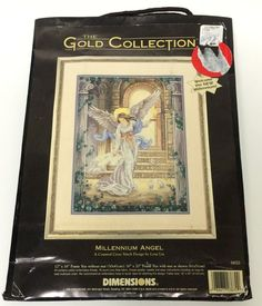 Dimensions Gold Collection Counted Cross Stitch Kit Millennium Angel 3870 NEW #Dimensions