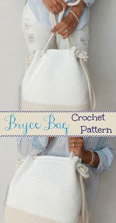 Cute spring or summer crochet bag - I like the size of this bag and how classy but functional it is ...#afflink #crochet #crochetpattern #handmade #crocheting #purse #handmadebag