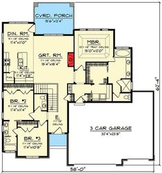 3 Bed PrairieInspired Ranch Home Plan Floor Master Suite Butler Walkin Pantry CAD Available Jack Jill Bath Modern PDF Prairie Ranch Split Bedrooms Archit. House Plans One Story, Ranch House Plans, Best House Plans, Dream House Plans, Small House Plans, House Floor Plans, Modern House Design, Home Design, Design Ideas