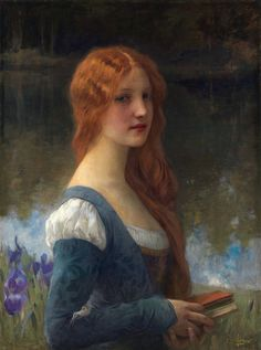 ✉ Biblio Beauties ✉ paintings of women reading letters & books - Charles Amable Lenoir  - To the Return of Times Lost.