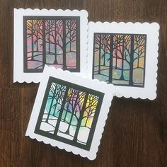 brights pack of 8 Small Heart Tree Die-cuts