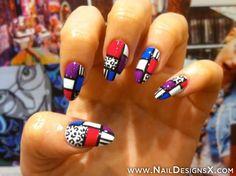 hot 1 nail art