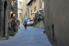 Cortona. These small steep roads leads you up to some fantastic views. Worth every step