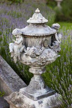 Formal Gardens, Outdoor Gardens, Outdoor Garden Statues, Lavender Garden, Lavender Fields, Garden Urns, Garden Features, Garden Ornaments, Dream Garden