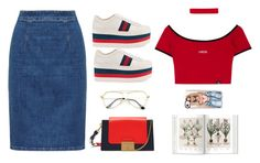 Mix red and blue by sazaranr on Polyvore featuring polyvore, fashion, style, Gucci, Mulberry, Casetify and clothing