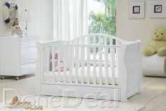 White Oslo Sleigh Cot Bed