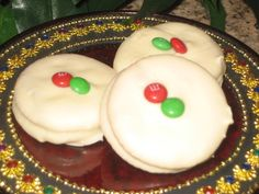 Super-easy, delicious christmas cookies/candy  3 ingredients: Ritz crackers, peanut butter, white chocolate.