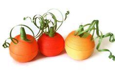 Halloween Pumpkin Ornament Trio Orange Paper by WintergreenDesign, $29.00