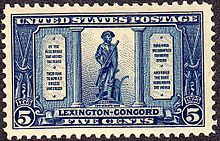 Post Stamp; Battles of Lexington and Concord