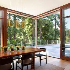 modern dining room by Kasten Builders