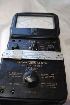 Simpson-260-Vintage-Meter-Volt-Om-Wattmeter-Vintage-Electronics-HUGE-SALE