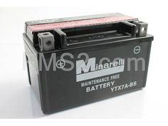 Batteria Minarelli YTX7A-BS, 12 Volt - 6 Ah, tipo MF, ricambio 0012350