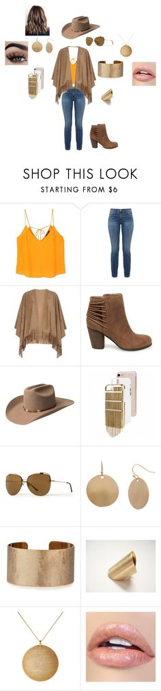 """Western Compass"" by nannabanana1201 ❤ liked on Polyvore featuring MANGO, Current/Elliott, mel, Steve Madden, Bailey Western, Nine West, Bold Elements, Panacea and Kenneth Jay Lane"