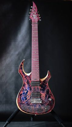 Negrini Guitars - Liuteria GNG Morgoth Standard Carved 7, custom made for Massimiliano P. - Amaranth one-piece neck and fretboard - Mahogany body - Italian figured poplar top