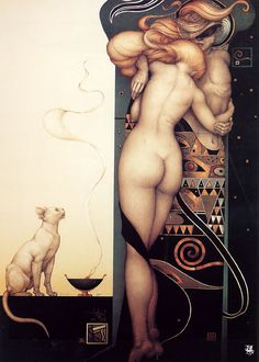 Michael Parkes is the world's leading magical realist painter, sculptor, and stone lithographer. The Official Website of Artist Michael Parkes. Julie Bell, Magic Realism, Art For Art Sake, Day For Night, Art Night, Amazing Art, Fantasy Art, Fantasy Figures, Cool Art