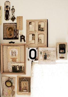 Studio--art wall by Rebecca Sower, via Flickr