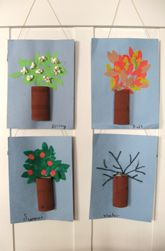 Making four seasonal trees. Give the students all of the needed supplies and let them make the four seasonal trees. Don't tell them what each one should look like, let their imagine run wild.
