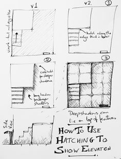 How to use Hatching to Show Elevation on a Map - a quick three step tutorial on hatching for dungeon maps.