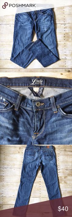 Lucky Brand Zoe Straight jeans size 8/29 Excellent/like new condition Lucky Brand classic blue jeans. Zoe straight in a size 8/29. Amazing quality jeans! Intentionally made to look worn in certain areas. Definitely adds to the great character of the jeans! Inseam- 30 inches, waist- 15 inches, rise- 8 inches. If you have any questions, please don't hesitate to ask! Lucky Brand Jeans Straight Leg