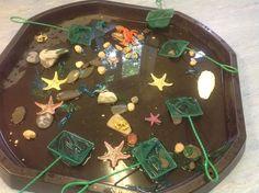 Rock pool idea - Garden How to Crafts Sea Activities, Nursery Activities, Preschool Activities, Pirate Activities, Outdoor Activities, Tuff Spot, Water Tray, Sand And Water, Pool Water