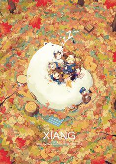__ graffiti kingdom illustration- 精灵-秋-冬眠的Xiang. Illustration Story, Illustrations, Graphic Illustration, Cute Drawings, Cartoon Drawings, Graffiti Cartoons, Kawaii Art, Drawing For Kids, Art Plastique